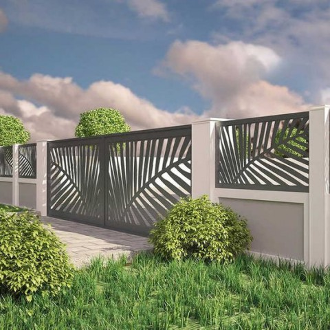 Aluminium Sliding Gate Panel Art 4