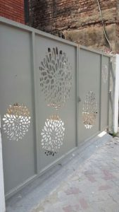 Aluminium Sliding Gate Panel Art