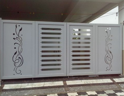 Aluminium Swing Gates Panel Art 1