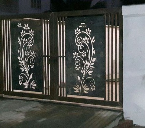 Aluminium Swing Gates Panel Art 3